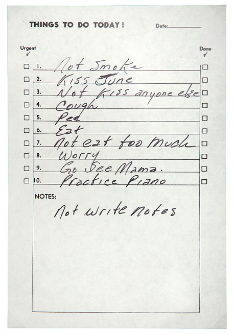 01%2F07%2F2016 1.2 Johnny Cash's To-Do List