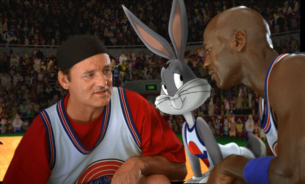 Bill Murray, Bugs Bunny, and Michael Jordan (Space Jam)