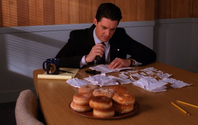 Dale Cooper and Doughnuts (Twin Peaks)