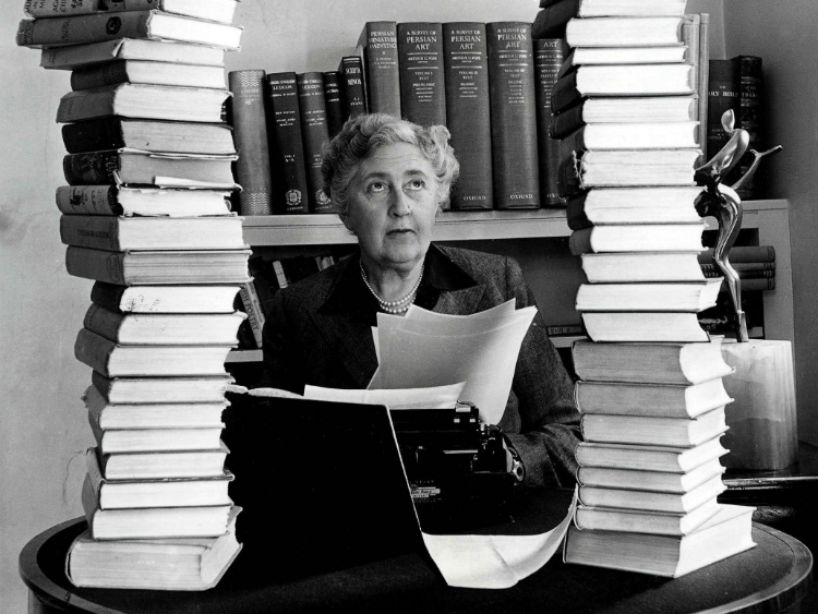 Agatha Christie With Her Works