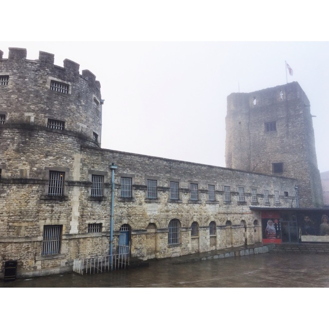 Oxford Castle on a Foggy Morning