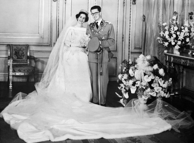 Queen Fabiola and King Baudouin On Their Wedding Day