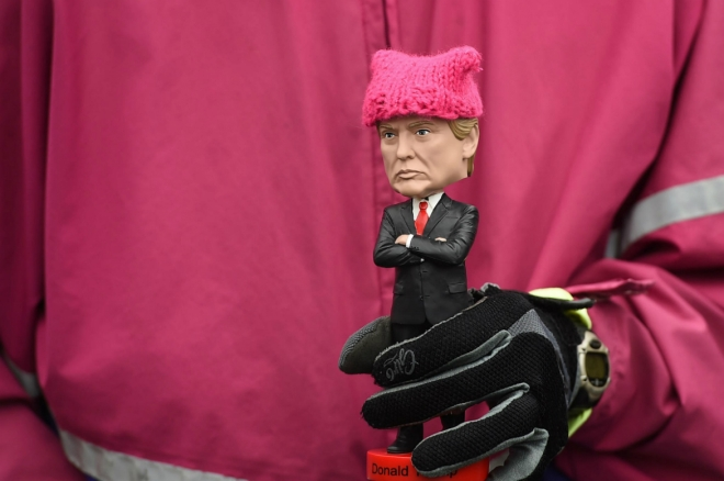 Donald Trump Bobble-head in a Pussyhat