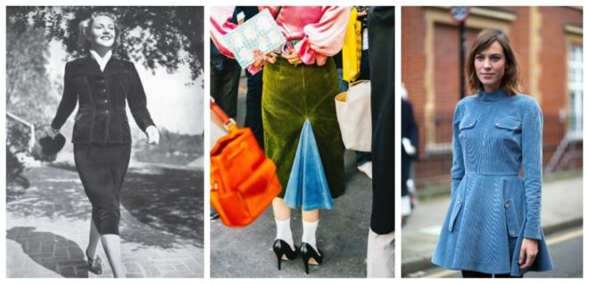 Corduroy in Female Fashion