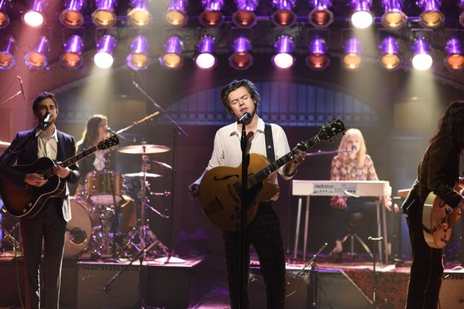 Harry Styles Performing at Saturday Night Live