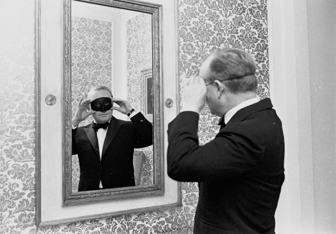 Truman Capote at the Black and White Ball